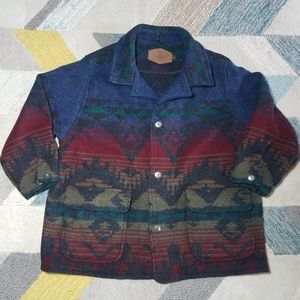 Woolrich Aztec Tribal Jacket Wool Blend Coat XXL